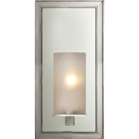 Visual Comfort E.F. Chapman Lund 1 Light Bath Wall Light in Polished Nickel CHD2051PN-FG