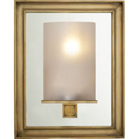 Visual Comfort E.F. Chapman Lund 1 Light Bath Wall Light in Antique-Burnished Brass CHD2053AB-FG