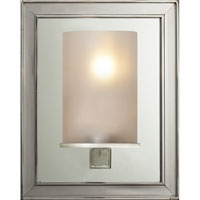 E.F. Chapman Lund 1 Light 6 inch Polished Nickel Bath Wall Light in Frosted Glass