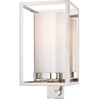 Visual Comfort E.F. Chapman Easterly 1 Light Bath Wall Light in Polished Nickel CHD2055PN-WG