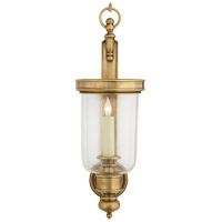 E. F. Chapman Georgian 1 Light 8 inch Antique-Burnished Brass Decorative Wall Light in Antique Burnished Brass