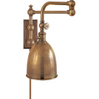 Visual Comfort E.F. Chapman Pimlico 1 Light Swing-Arm Wall Light in Antique-Burnished Brass CHD2150AB-AB