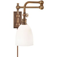 Visual Comfort E.F. Chapman Pimlico 1 Light Bath Wall Light in Antique-Burnished Brass CHD2150AB-WG