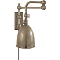 Visual Comfort E.F. Chapman Pimlico 1 Light Swing-Arm Wall Light in Antique Nickel CHD2150AN-AN