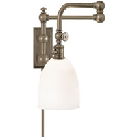 Visual Comfort E.F. Chapman Pimlico 1 Light Bath Wall Light in Antique Nickel CHD2150AN-WG