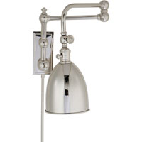 Visual Comfort E.F. Chapman Pimlico 1 Light Swing-Arm Wall Light in Polished Nickel CHD2150PN-PN