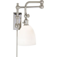 Visual Comfort E.F. Chapman Pimlico 1 Light Bath Wall Light in Polished Nickel CHD2150PN-WG