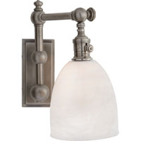 Visual Comfort E.F. Chapman Pimlico 1 Light Bath Wall Light in Antique Nickel CHD2153AN-WG
