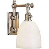 Visual Comfort E.F. Chapman Pimlico 1 Light Bath Wall Light in Polished Nickel CHD2153PN-WG