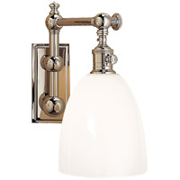 Visual Comfort CHD2153PN-WG E. F. Chapman Pimlico 1 Light 6 inch Polished Nickel Single Sconce Wall Light photo thumbnail