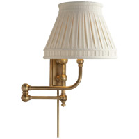 E. F. Chapman Pimlico 25 inch 60 watt Antique-Burnished Brass Swing-Arm Wall Light in Linen