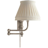 Visual Comfort CHD2154AN-LCC E. F. Chapman Pimlico 25 inch 60 watt Antique Nickel Swing-Arm Wall Light in Linen photo thumbnail