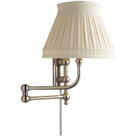 Visual Comfort CHD2154PN-LCC E. F. Chapman Pimlico 25 inch 60 watt Polished Nickel Swing-Arm Wall Light in Linen