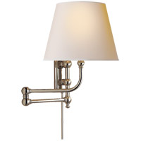 E. F. Chapman Pimlico 25 inch 60 watt Polished Nickel Swing-Arm Wall Light in Natural Paper