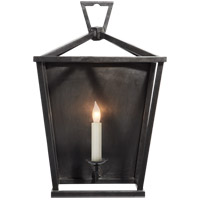 Visual Comfort E.F. Chapman Darlana 1 Light Decorative Wall Light in Aged Iron with Wax CHD2165AI