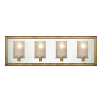 Visual Comfort E.F. Chapman Lund 4 Light Bath Wall Light in Antique-Burnished Brass CHD2253AB-FG