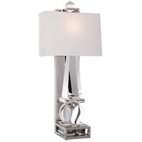E.F. Chapman Paladin 1 Light 11 inch Crystal with Polished Nickel Sconce Wall Light, E.F. Chapman, Tall, Obelisk, Natural Percale Shade