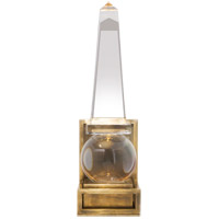 Visual Comfort CHD2264CG/AB E. F. Chapman Paladin 1 Light 5 inch Crystal with Brass Sconce Wall Light in Antique Burnished Brass, E.F. Chapman, Short, Modern, Obelisk