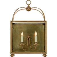 Visual Comfort E.F. Chapman Arch Top 2 Light Wall Lantern in Antique-Burnished Brass CHD2421AB