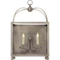 Visual Comfort E.F. Chapman Arch Top 2 Light Wall Lantern in Antique Nickel CHD2421AN