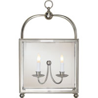 Visual Comfort E.F. Chapman Arch Top 2 Light Wall Lantern in Polished Nickel CHD2421PN