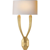 Visual Comfort E.F. Chapman Ruhlmann 2 Light Decorative Wall Light in Antique-Burnished Brass CHD2461AB-NP