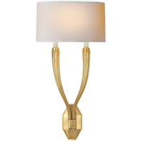 Visual Comfort CHD2461AB-NP E. F. Chapman Ruhlmann 2 Light 11 inch Antique-Burnished Brass Decorative Wall Light
