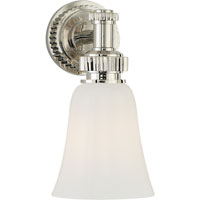 Visual Comfort E.F. Chapman Ruhlmann 1 Light Bath Wall Light in Polished Nickel CHD2462PN-WG