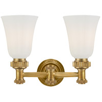 E. F. Chapman Ruhlmann 2 Light 15 inch Antique-Burnished Brass Bath Wall Light in Antique Burnished Brass