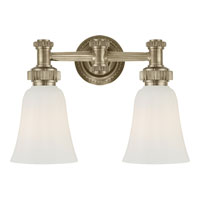 Visual Comfort E.F. Chapman Ruhlmann 2 Light Bath Wall Light in Antique Nickel CHD2463AN-WG
