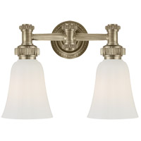 E. F. Chapman Ruhlmann 2 Light 15 inch Antique Nickel Bath Wall Light