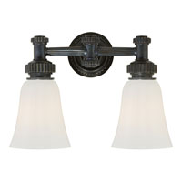 Visual Comfort E.F. Chapman Ruhlmann 2 Light Bath Wall Light in Bronze with Wax CHD2463BZ-WG