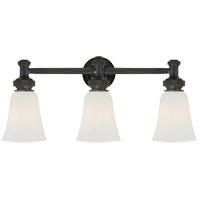 Visual Comfort CHD2464BZ-WG E. F. Chapman Ruhlmann 3 Light 24 inch Bronze Bath Wall Light