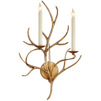 Visual Comfort E.F. Chapman Branch 2 Light Decorative Wall Light in Gilded Iron with Wax CHD2470GI