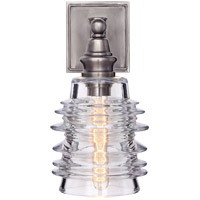 Visual Comfort CHD2472AN-CG E. F. Chapman Covington 7 inch Antique Nickel Sconce Wall Light, E.F. Chapman, Clear Glass