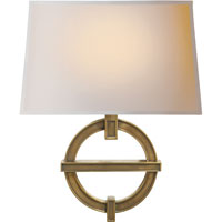 Visual Comfort CHD2540AB-NP E. F. Chapman Symbolic Fragment 1 Light 14 inch Antique-Burnished Brass Decorative Wall Light in Antique Burnished Brass