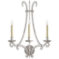 Visual Comfort CHD2551BSL-CG E. F. Chapman Oslo 3 Light 17 inch Burnished Silver Leaf Decorative Wall Light
