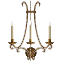 E. F. Chapman Oslo 3 Light 17 inch Gilded Iron with Wax Decorative Wall Light