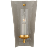 Visual Comfort CHD2605SHG Chapman & Myers Downey 1 Light 7 inch Shellish Gray and Gild Reflector Sconce Wall Light, Small