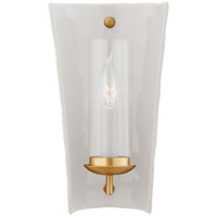 Visual Comfort CHD2605WHT Chapman & Myers Downey 1 Light 7 inch White and Gild Reflector Sconce Wall Light, Small