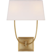 Visual Comfort E. F. Chapman Venini 2 Light 14 inch Antique-Burnished Brass Wall Sconce Wall Light CHD2621AB-L - Open Box