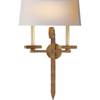 Visual Comfort E.F. Chapman Grafton 2 Light Decorative Wall Light in Gilded Iron with Wax CHD2710GI-NP