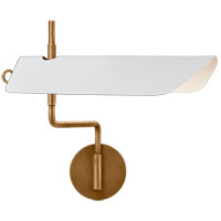 Visual Comfort CHD2724AB-WHT Chapman & Myers Miles 26 inch 12 watt Antique-Burnished Brass Swing Arm Wall Light