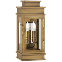 E. F. Chapman Linear Lantern 2 Light 12 inch Antique-Burnished Brass Outdoor Mini Wall Lantern
