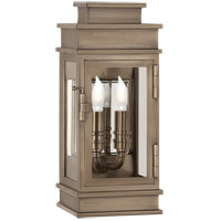 Visual Comfort CHD2907AN-CG E. F. Chapman Linear Lantern 2 Light 12 inch Antique Nickel Outdoor Mini Wall Lantern