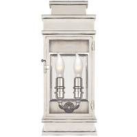 Visual Comfort CHD2907PN-CG E. F. Chapman Linear Lantern 2 Light 12 inch Polished Nickel Outdoor Mini Wall Lantern