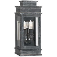 Visual Comfort CHD2907WZ-CG E. F. Chapman Linear Lantern 2 Light 12 inch Weathered Zinc Outdoor Mini Wall Lantern