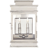 E.F. Chapman 2 Light 9 inch Polished Nickel Wall Lantern Wall Light