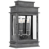 Visual Comfort E.F. Chapman 2 Light Wall Lantern in Weathered Zinc CHD2908WZ