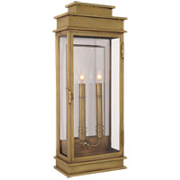 E. F. Chapman Linear 2 Light 23 inch Antique-Burnished Brass Wall Lantern in Antique Burnished Brass